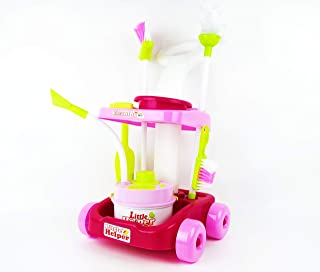 NBD Corp Kids Little Helper Portable Cleaning Set with Instruments, Pink Cleaning Toy Set with Lights and Music