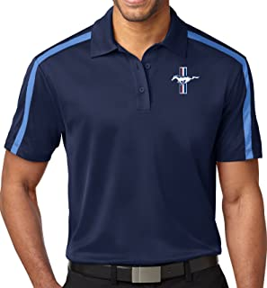 Buy Cool Shirts Mens Ford Mustang GT Colorblock-Stripe Polo Shirt