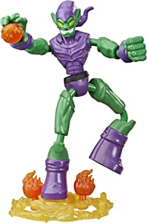 Hasbro Spider-Man Marvel Bend and Flex Green Goblin Action Figure Toy, 6-Inch Flexible Figure, Includes Blast Accessories,...
