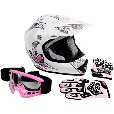 Medium Military Green Includes Goggles MMG 27 Motorcycle Off Road Helmet MX ATV Dirt Bike Motocross UTV