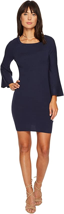 J.O.A. - Bell Sleeve Fitted Knit Dress
