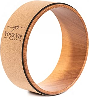 YOUR VIP SKIN - Kurk Yoga Wiel - Duurzaam Natuurlijk Ecologisch Antislip Yoga Wiel - Kurk Yoga Ring Yoga, Pilates, Fitness...