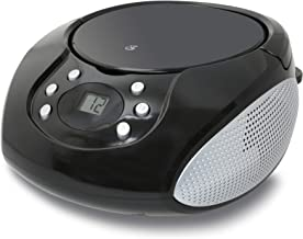 GPX, Inc. Portable Top-Loading CD Boombox with AM/FM Radio and 3.5mm Line In for MP3..
