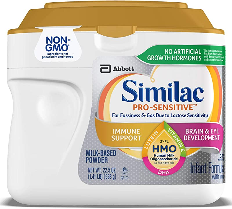 Similac Pro Sensitive Non GMO Infant Formula With Iron With 2 FL HMO For Immune Support Baby Formula Powder 22 5 Ounce