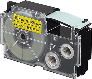 Casio 18mm Label Printer Cartridge Black Print on Yellow Tape