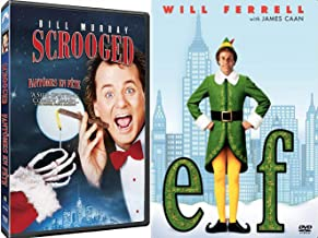 High-Jinxed Spirited Christmas... Bah Humbug Elf Double Feature Movie & Bill Murray Scrooged Holiday Will Ferrell DVD Holiday Comedy 2-Pack