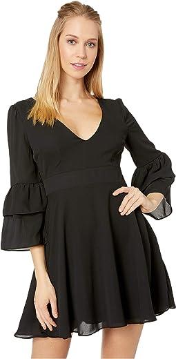 Always Classy Ruffle Sleeve Dress