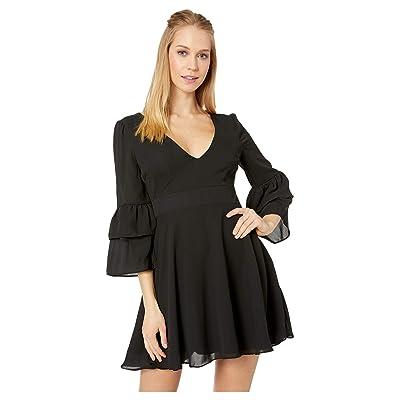 BB Dakota Always Classy Ruffle Sleeve Dress (Black) Women