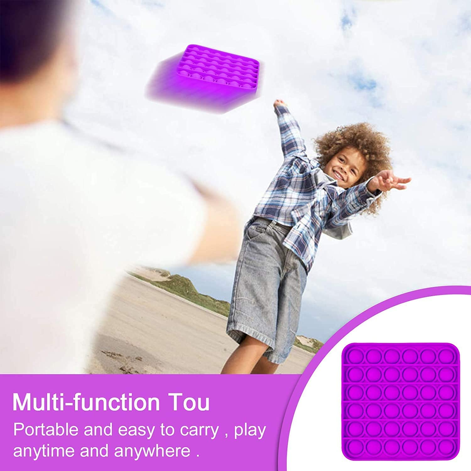 A HJHY Square Push Pop Bubble Fidget Sensory Toi Push Pops Fideget for Kids and Family Push Pops for Stress and Anxiety Relief