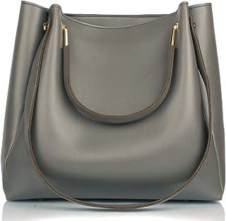 Mammon Women's Handbag (R-bib-Grey_Grey)