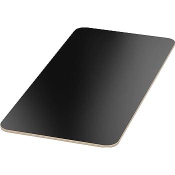 AUPROTEC Tischplatte 18mm schwarz 1500 mm x 700 mm rechteckige Multiplexplatte melaminbeschichtet von 40cm-200cm ausw/ählbar Ecken Radius 100mm Birken-Sperrholzplatten Auswahl 150x70 cm