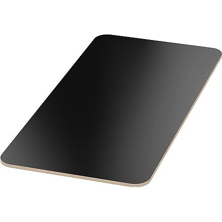 AUPROTEC Tischplatte 18mm grau 1200 mm x 700 mm rechteckige Multiplexplatte melaminbeschichtet von 40cm-200cm ausw/ählbar Ecken Radius 100mm Birken-Sperrholzplatten Auswahl 120x70 cm
