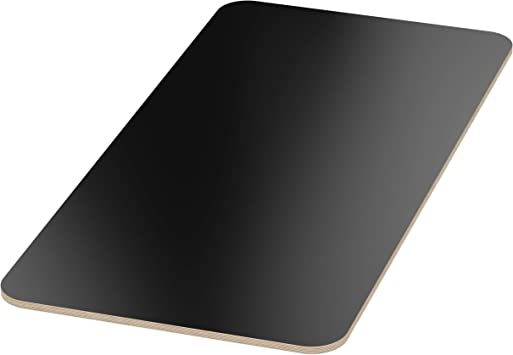 AUPROTEC Tischplatte 18mm schwarz 1800 mm x 700 mm rechteckige Multiplexplatte melaminbeschichtet von 40cm-200cm ausw/ählbar Ecken Radius 100mm Birken-Sperrholzplatten Auswahl 180x70 cm