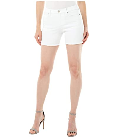 Liverpool Vickie Fray Hem Shorts (Bright White) Women