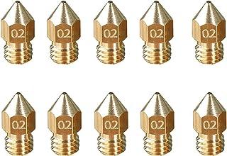 50PCS 3D Printer Nozzle Extruder Print Head 0.2MM 0.3MM 0.4MM 0.5MM Optional for 1.75MM Filament Ender-3 3D Printer zhengp...