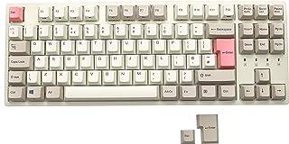 Durgod Taurus K320 TKL Mechanische Gaming Tastatur – 88 Tasten – Dye Sub PBT – USB Typ C – ISO UK (Kirschrot, Cremeweiß)