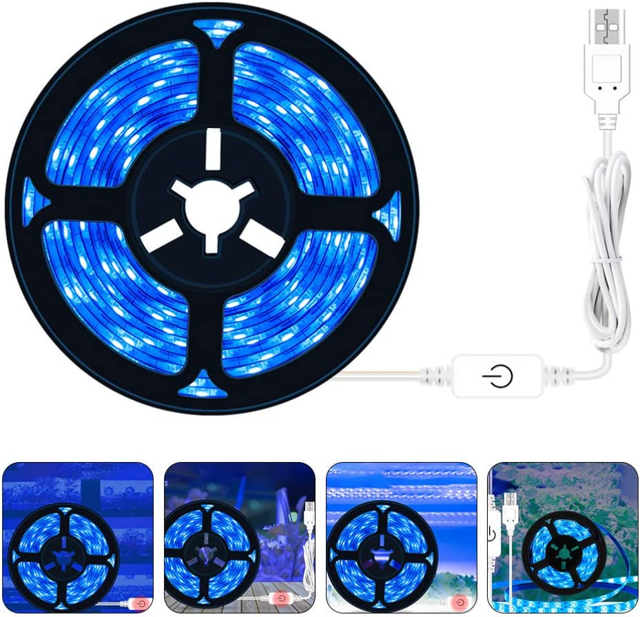 Plant Growing Touch Lights Dimmable Full Spectrum Waterproof Plant Strip Lights for Greenhouse Hydroponics Succulent Flower Vegetable OSALADI LED Grow Light Strips White Blue