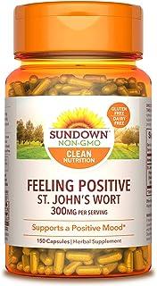 Sundown Standardized St. John's Wort Capsules 150 ea, Non-GMOˆ, Free of Gluten, Dairy, Artificial Flavors