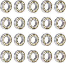 uxcell 6901ZZ Deep Groove Ball Bearing 12x24x6mm Double Shielded Carbon Steel Bearings 20Pcs