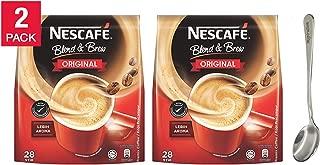 Nescafé 3 in 1 Blend & Brew Original Instant Coffee Sticks - 19g28 Stick Packs, Premix Coffee / LEBIH AROMA Comes with free Inspirations Brand Spoon (2-Pack)