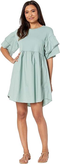 Knit/Woven Babydoll Dress