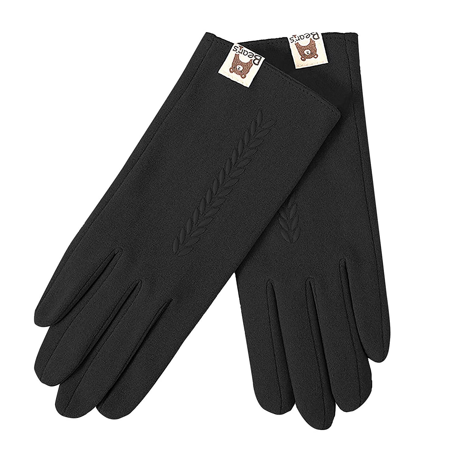【Fast Delivery 6-14days】Women Winter Gloves Warm Touch Screen Gloves Chamois Leather Driving Gloves Fleece Thermal Gloves for Ladies
