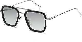 Retro Gafas de sol Marco de metal para hombres mujeres Gafas de sol Gafas cuadradas