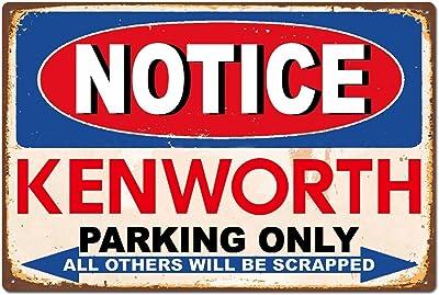 Plaque métallique Kenworth 577 en métal pour bar, pub, club, affiche en métal rétro en métal et peinture en fer 20,3 x 30,5 cm