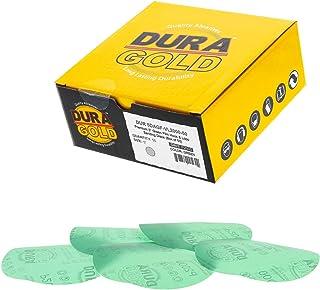 "Dura-Gold - Premium Hook & loop - 2000 Grit 5"" Green Film - Hook & Loop Sanding Discs for DA Sanders - Box of 50 Sandpaper..."