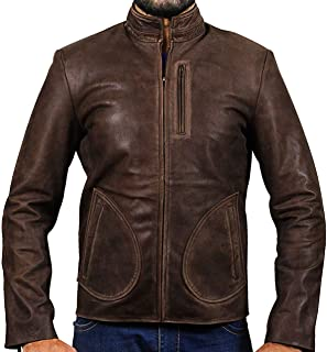 KAAZEE Dwayne Johnson Rampage Brown Real Leather Jacket