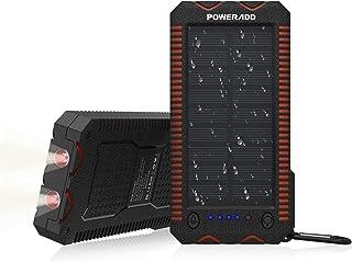 comprar comparacion POWERADD Cargador Solar Portátil con 12000mAh, Batería Externa 2 Puertos de USB Panel Solar con Alta Eficiencia de Convers...