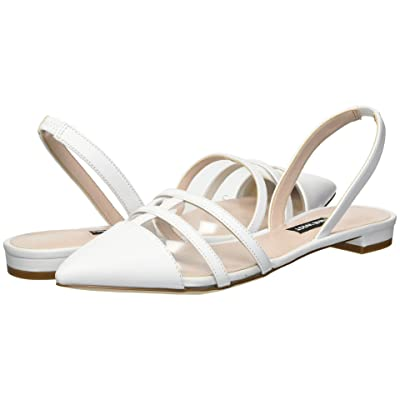 Nine West Available (Clear/White Synthetic) Women