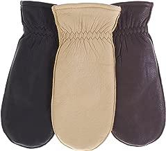 Pratt and Hart Women's Winter Deerskin Leather Mittens with Finger Liners