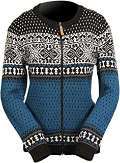 Icewear Martha Women's Norwegian Wool-blend Sweater (L, Ink blue)