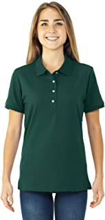 ladies green polo shirt