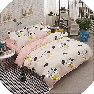 Bedspreads King Twin Bedding Set for Girl Kid Teen Cactus Duvet Quilt Comforter Cover Pillowcase Sheet Bed Linen 4Pcs,23,Twin 4Pcs