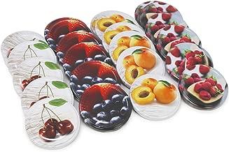 024 pezzi - Centrino decorativo com-four/® 24x Centrini decorativi per conservare barattoli 6 diversi motivi