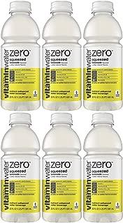 Vitamin Water Zero, Lemonade - Squeezed, 20oz Bottle (Pack of 6, Total of 120 Oz)