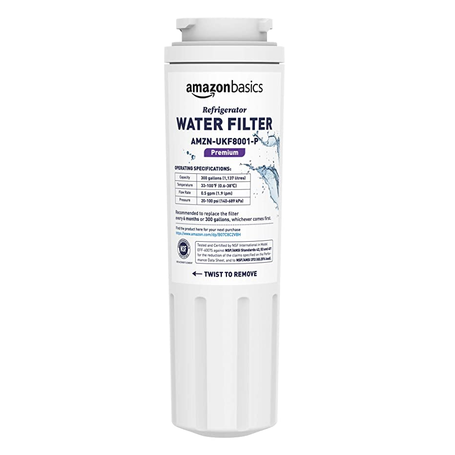 AmazonBasics Replacement Maytag UKF8001 Refrigerator Water Filter - Premium Filtration