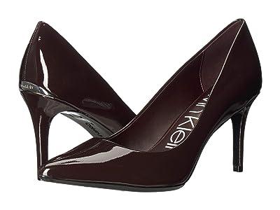 Calvin Klein Gayle Pump (Mahogany Patent) High Heels