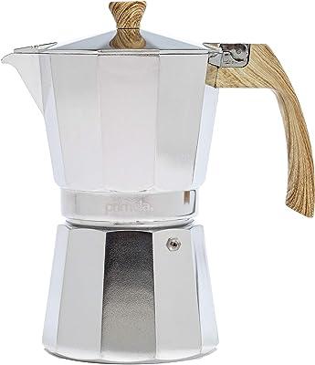 Primula Cafetera para café y espresso de estilo clásico italiano, 6 tazas, pulido