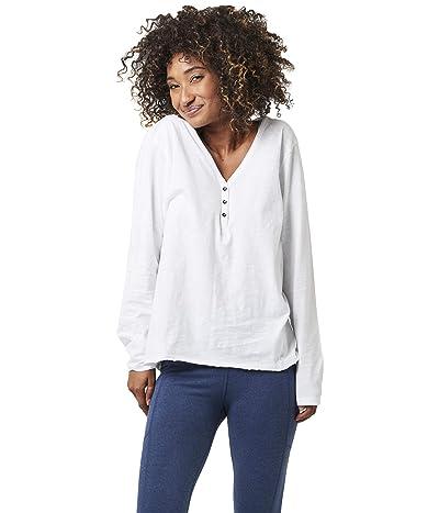 PACT Organic Cotton Waffle Henley (White) Women