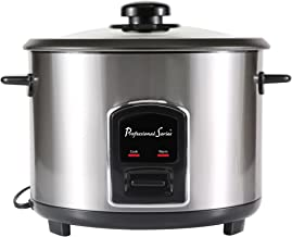 Continental Electric PS75068 Rice Cooker, 6-Cup (Cooked), Silver