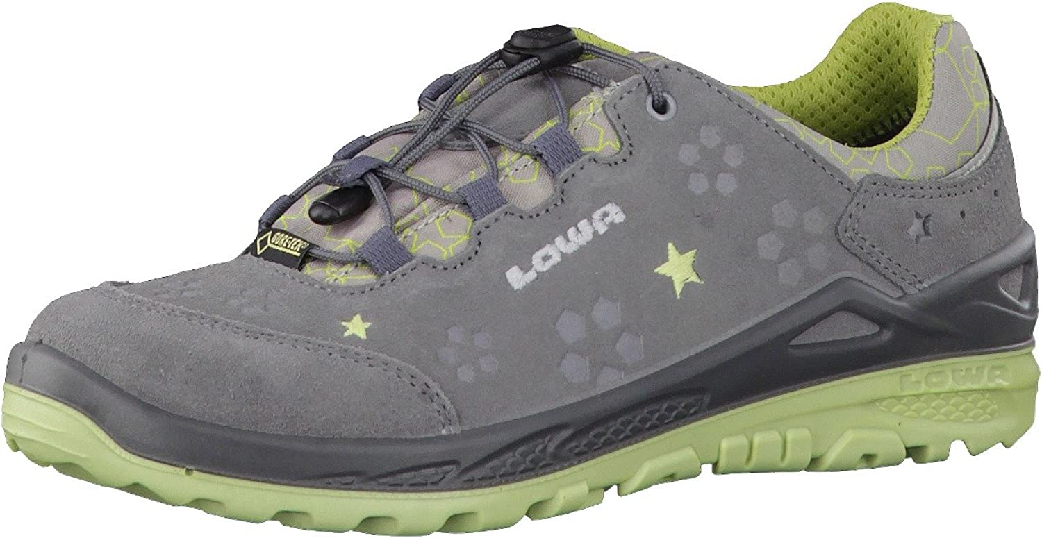 LOWA, MARIE, GTX® LO Kids, girl's shoes, grey and mint
