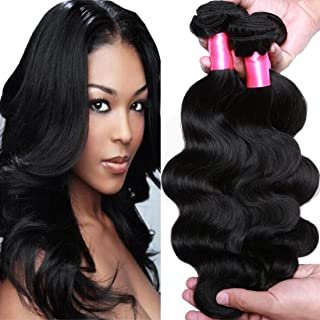 Cranberry Hair Brazilian Body Wave Hair 3 Bundles 100% Unprocessed Virgin Human Hair Weft Extensions Natural Black Color(24