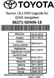 2019 Toyota Navigation DVD Gen 6 U9A 18.1 Map GPS Update