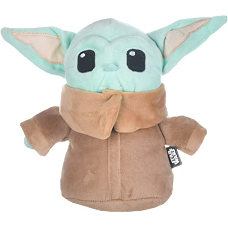 STAR WARS Mandalorian The Child Plush Figure Dog Toy - 6 Inch, 9 Inch, or 12 Inch Dog Toy from The Mandalorian - Soft and Plush Dog Toys Safe Fabric Squeaky Dog Toy for All Dogs - Baby Yoda Dog Toy