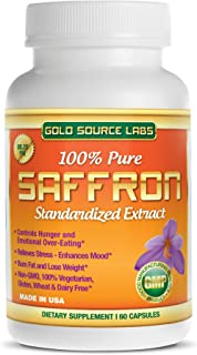 Saffron Extract Supplement - 88.25 mg Capsules with Standardized .3% Safranal Extract Plus Pure Saffron Powder, 60 Maximum Strength Vegetarian Pills - Premium Weight Loss and Eye Supplement