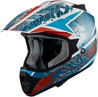 IXS Helm De Motocross 278 KID 2.0 50 bianco-blu-arancione
