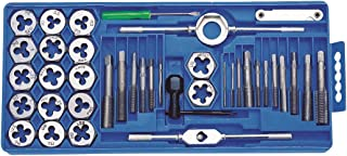 Perel HTDS40 Tap and Die Set, 40 Pieces